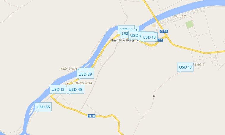 Фонгня - Кебанг, Карта