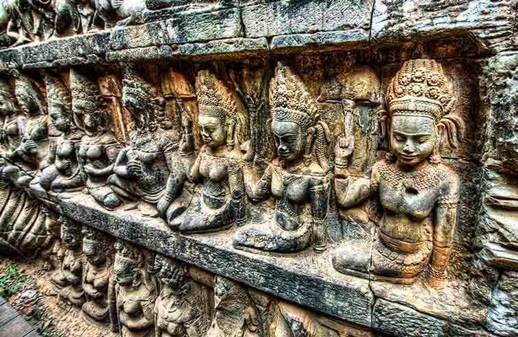 Террасa прокаженного короля, Ангкор (Камбоджа). Photo credit: Grzegorz Rogala, Flickr