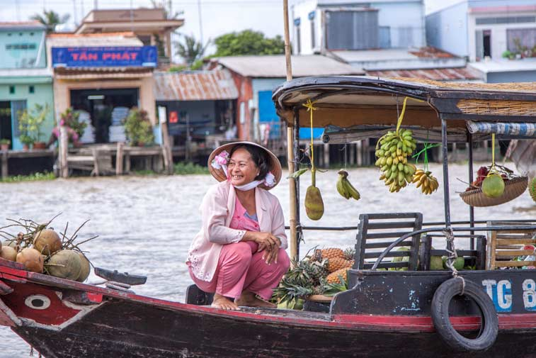 Плавучий рынок на Меконге, Вьетнам