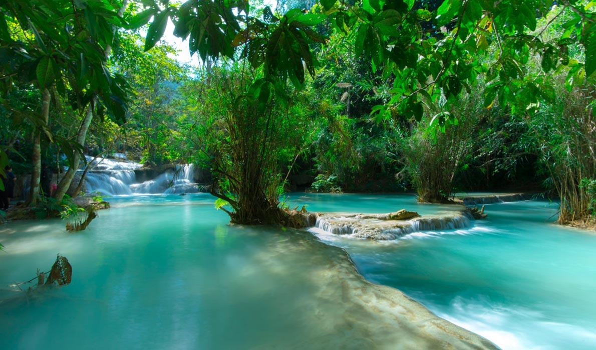 Водопады Куанг Си. Photo credit: Peerapat Laothavorkijkul, Flick