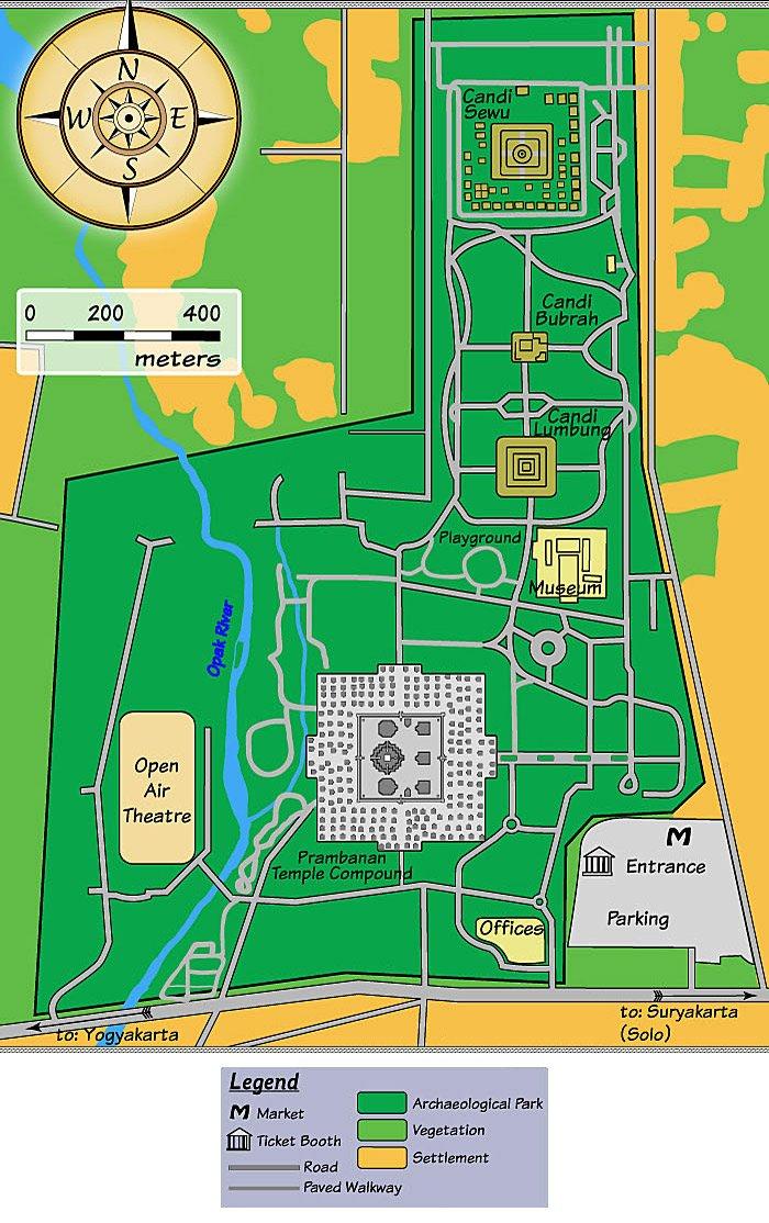 Прамбанан - карта