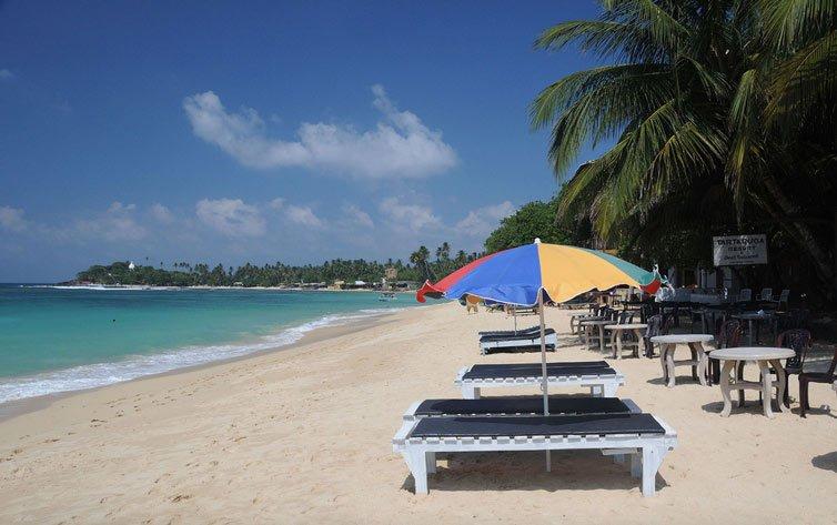 Пляж в Унаватуна, Шри Ланка