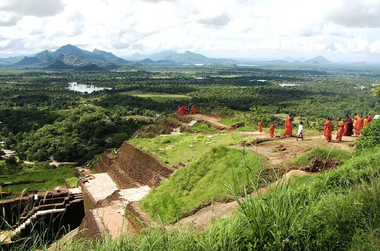 На вершине Львиной скалы, Сигирия, Шри Ланка