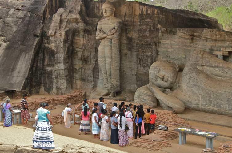 Каменный храм Гал Вихара, Полоннарува, Шри Ланка