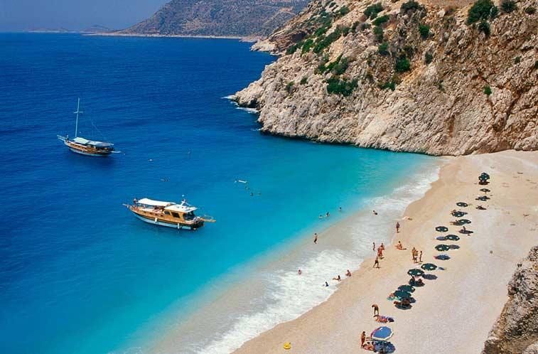 Пляж Капутас, Бирюзовое побережье Турции