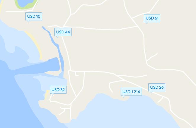 Гостиницы и бунгало на пляже Шритану