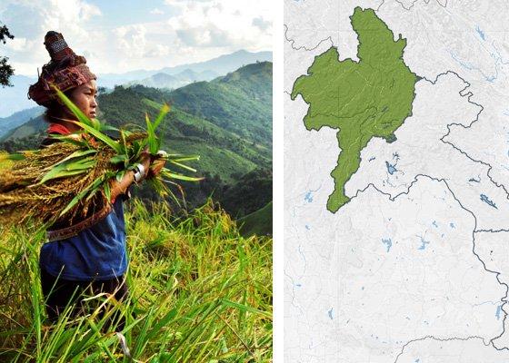 Север Лаоса - регионы