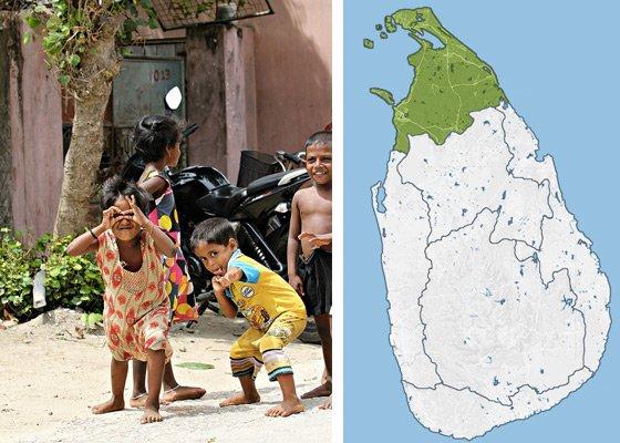 Север Шри Ланки - регионы