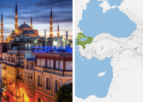 Регион Мраморного моря - регионы Турции
