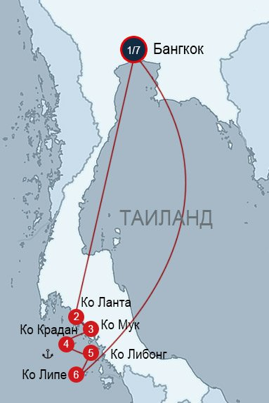 Ко Ланта и острова Транга