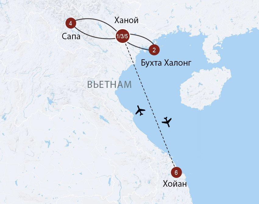 МАРШРУТ: Север Вьетнама и Хойан