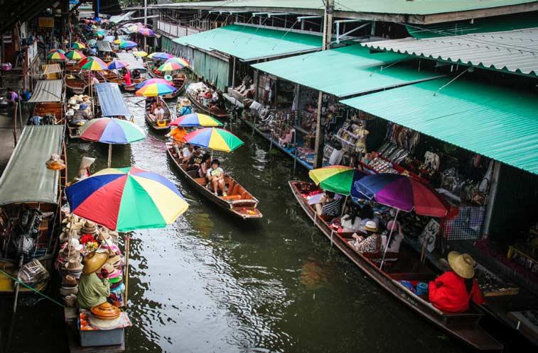 Плавучий рынок Дамноен Садуак, Центр Таиланда