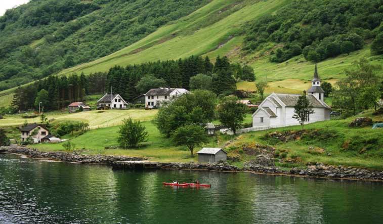Нероуфьорд, западные фьорды Норвегии