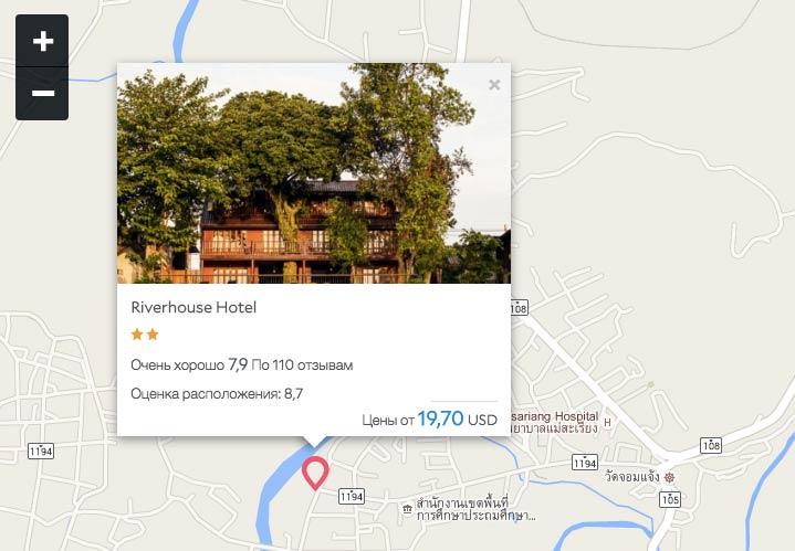 Мае Сарианг - гостиницы