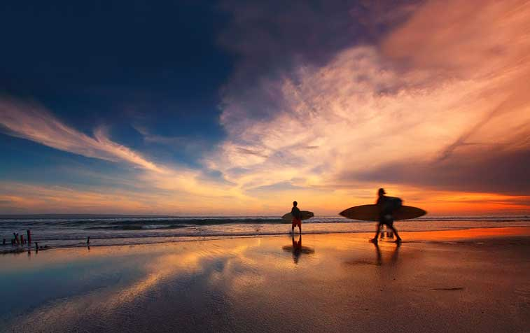Остров Бали, пляж Кута