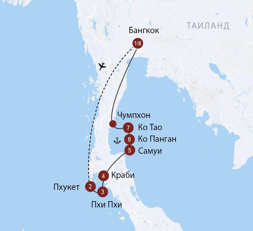 C острова на остров: лучшие острова и пляжи Южного Таиланда
