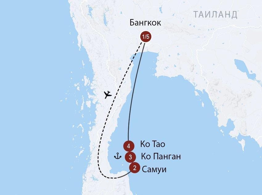C острова на остров: Самуи, Панган и Ко Тао