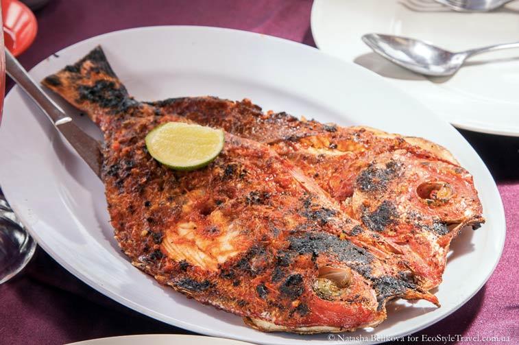 Рыбные рестораны на пляже Джимбаран