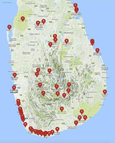 Карта Шри Ланки