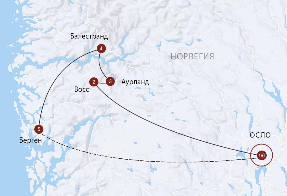 Из Осло в Берген через Согнефьорд