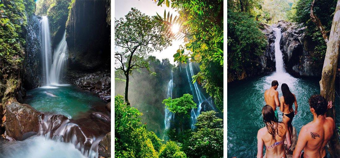 Водопады в районе Бедугул