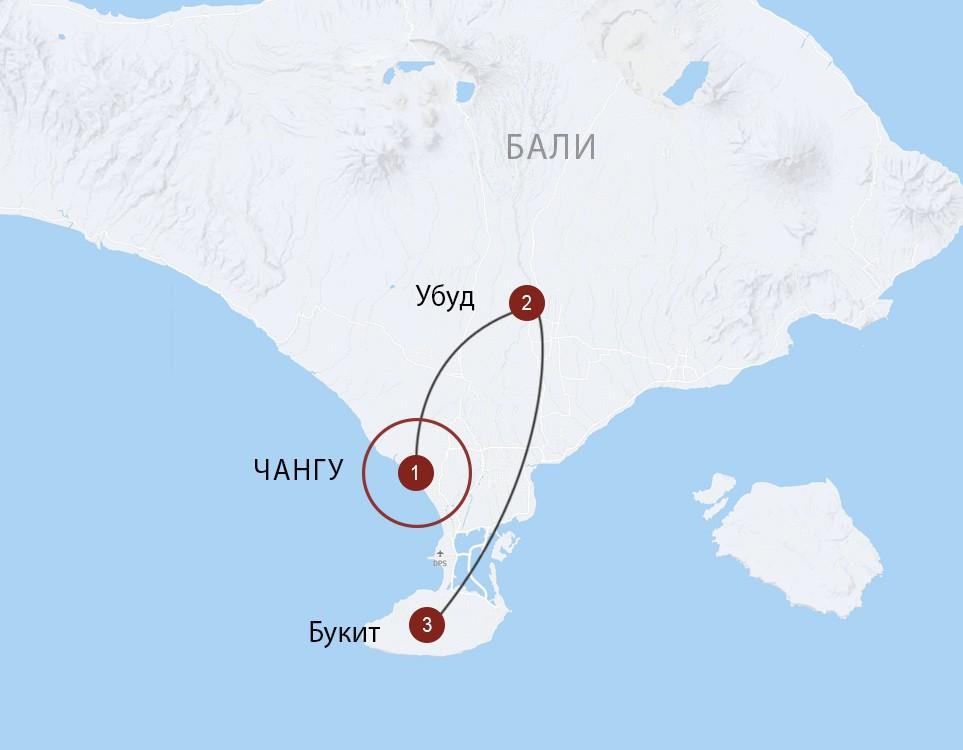 Бали: 3 направления, комфортный маршрут