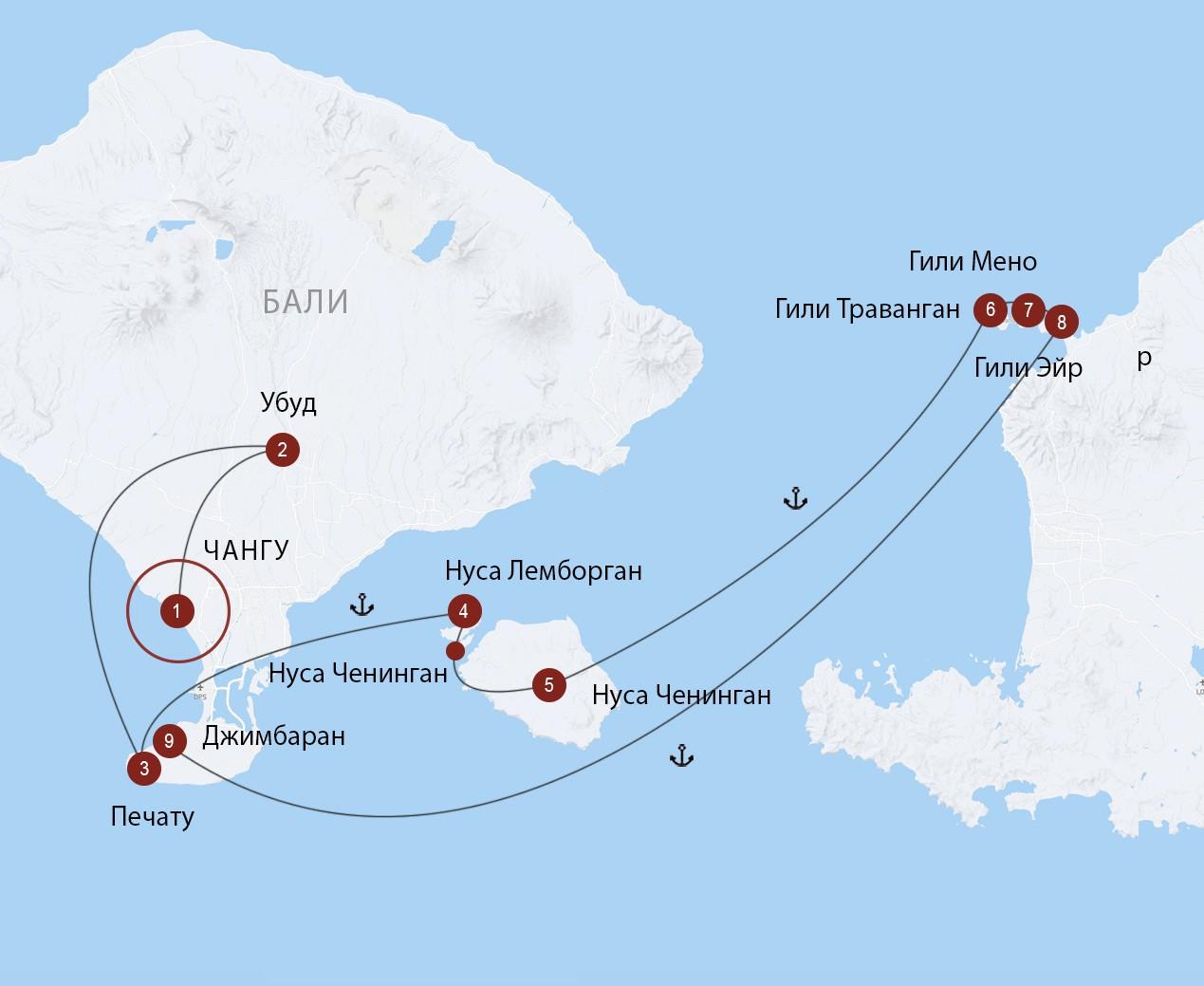 С острова на остров: Бали, острова Нуса и Гили (большой маршрут)
